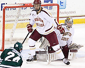 Isaac MacLeod (BC - 7), Parker Milner (BC - 35) - The Boston College Eagles defeated the visiting Dartmouth College Big Green 6-3 (EN) on Saturday, November 24, 2012, at Kelley Rink in Conte Forum in Chestnut Hill, Massachusetts.