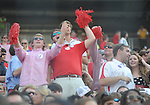 Ole Miss students cheer at Vaught-Hemingway Stadium in Oxford, Miss. on Saturday, September 10, 2011. Ole Miss won 42-24.