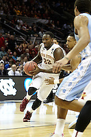 SAN ANTONIO, TX - MARCH 23, 2014: The Iowa State University Cyclones face the University of North Carolina Tarheels in the 3rd Round of the 2014 NCAA Basketball Tournament at the AT&T Center. (Photo by Jeff Huehn)