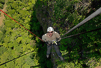 Rappelling at Boca da On&ccedil;a farm, Bonito, Mato Grosso do Sul state, Brazil.