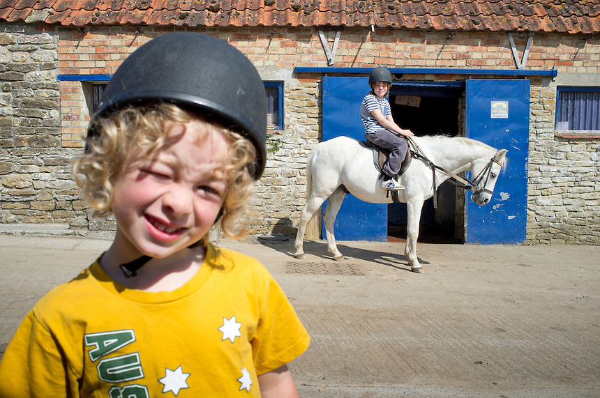 Bas and Felix, Riding lessons in Somerset, England, UK