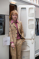 Rupert Grint (Ron Weasley from 'Harry Potter' ), on the set of ' Moonwalkers' - Exclusive - Belgium.
