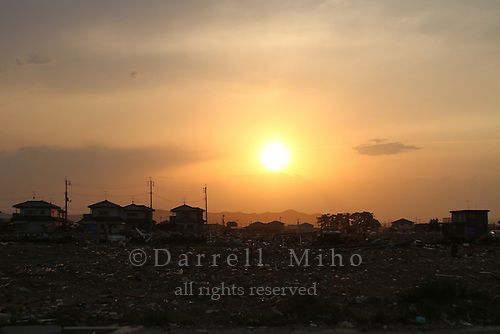 May 16, 2011; Watari, Miyagi Pref., Japan - Damage after the magnitude 9.0 Great East Japan Earthquake and Tsunami that devastated the Tohoku region of Japan on March 11, 2011.