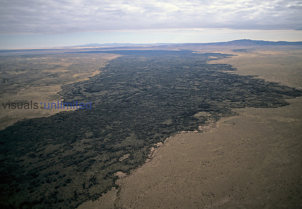 Aerial view of lava flows, Carrizozo, New Mexico, USA.