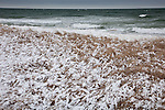 A winter storm at Skaket Beach in Brewster, Cape Cod, MA, USA