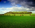 Cadbury Castle, South Cadbury, Somerset. Uk. Celtic Britain published by Orion. First occupied in neolithic times, and then almost continually untill the 11th centuary .  Bronze Age fort grew into impressive Iron Age town. Belief that Cadbury Castle may have been Arthurs Camelot.