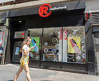 A RadioShack concept store in Midtown in New York on Sunday, July 27, 2014.  The electronics retailer has been recently notified by the New York Stock Exchange that it is out of compliance and risks being de-listed because the company's stock has traded below $1 for 30 days. (© Richard B. Levine)