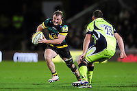 Mike Haywood of Northampton Saints in possession. Aviva Premiership match, between Northampton Saints and Sale Sharks on December 23, 2016 at Franklin's Gardens in Northampton, England. Photo by: Patrick Khachfe / JMP