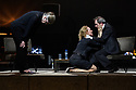London, UK. 16.03.2017. Toneelgroep Amsterdam presents<br /> &quot;Roman Tragedies&quot;, a seamless interpretation of William Shakespeare's &quot;Coriolanus&quot;, Julius Caesar&quot; and &quot;Anthony and Cleopatra&quot;, in the Barbican Theatre. The Barbican first introduced Toneelgroep Amsterdam to UK audiences in 2009 with this same production. The picture shows: Coriolanus - Frieda Pittoors (Volumnia), Janni Goslinga (Virgilia), Gijs Scholten van Aschst (Coriolanus). Photograph &copy; Jane Hobson.