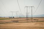 Transmission towers, Kovacevo, Bulgaria