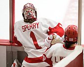 Freshman Kerrin Sperry (BU - 1) made 8 saves for BU during the second period.  All three BU goalies played. - The Boston University Terriers defeated the visiting University of Windsor Lancers 4-1 in a Saturday afternoon, September 25, 2010, exhibition game at Walter Brown Arena in Boston, MA.