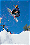 Jeff Brushie. Frontside mute board bender at Squaw valley in 1993.
