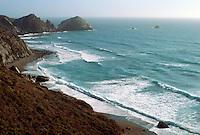 WATER BREAKING ALONG CALIFORNIA COAST<br /> Bridal Veil &amp; Bodega Bay
