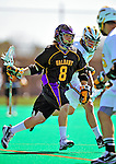 19 April 2009: University at Albany Great Dames' Midfielder Rocky Bonitatibus, a Freshman from Yorktown Heights, NY, in action against the University of Vermont Catamounts at Moulton Winder Field in Burlington, Vermont. The Danes defeated the Cats 9-6 in Vermont's last home game of the 2009 season. Mandatory Photo Credit: Ed Wolfstein Photo