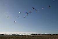 Members of the French Foreign Legion jump over a plain north of Tarbes, France, during a full scale multi-force exercise, 12 December 2007.