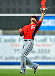 28 February 2011: Washington Nationals' infielder Ian Desmond pulls in an infield fly during a Spring Training game against the New York Mets at Digital Domain Park in Port St. Lucie, Florida. The Nationals defeated the Mets 9-3 in Grapefruit League action. Mandatory Credit: Ed Wolfstein Photo