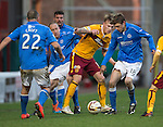 Motherwell v St Johnstone...31.01.15    SPFL<br /> Lee Erwin loses out to Murray Davidson<br /> Picture by Graeme Hart.<br /> Copyright Perthshire Picture Agency<br /> Tel: 01738 623350  Mobile: 07990 594431