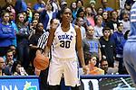 24 January 2016: Duke's Amber Henson. The Duke University Blue Devils hosted the University of North Carolina Tar Heels at Cameron Indoor Stadium in Durham, North Carolina in a 2015-16 NCAA Division I Women's Basketball game. Duke won the game 71-55.