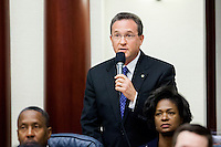 TALLAHASSEE, FLA. 11/18/14-ORGSESS111814CH-House Democratic Leader Rep. Mark Pafford, D-West Palm Beach, speaks during Organizational Session, Nov. 18, 2014 at the Capitol in Tallahassee.<br /> <br /> COLIN HACKLEY PHOTO