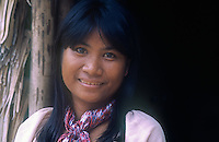 A local Tagbanwa Girl or Tagbanua, one of the oldest ethnic groups in the Philippines, can found in central and northern Palawan. Research has shown that the Tagbanwa are possible descendants of the Tabon Man; thus, making them one of the original inhabitants of the Philippines. They are brown-skinned, slim and straight-haired ethnic group and exceptional climbers. <br />
