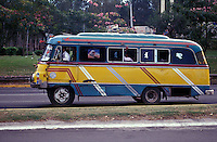Old public bus in downtown Managua, Nicaragua