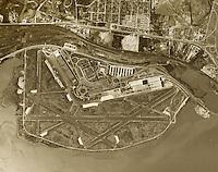 historical aerial photograph Washington National Airport DCA 1949