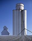 Grain Elevators.Merriman, Nebraska