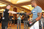 "May 26, 2011; Quinton ""Rampage"" Jackson works out for the media in preparation for UFC 130 at the MGM Grand in Las Vegas, NV."