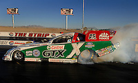 "Jan 20, 2007; Las Vegas, NV, USA; NHRA Funny Car driver Ashley Force does a burnout during preseason testing at ""The Strip"" at Las Vegas Motor Speedway in Las Vegas, NV. Mandatory Credit: Mark J. Rebilas"