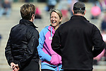 20 February 2016: UNC head coach Jenny Levy. The University of North Carolina Tar Heels hosted the University of Florida Gators in a 2016 NCAA Division I Women's Lacrosse match. Florida won the game 16-15.