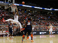 Ohio State Buckeyes center Amir Williams (23) misses a dunk in the second half at Value City Arena in Columbus Jan. 23, 2013 (Dispatch photo by Eric Albrecht)