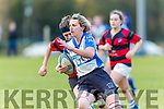 Tralee's Siobhan Fleming is unstopable as she goes for a try in the   Women's Rugby Division 1 Tralee v Bantry at O'Dowd Park on Saturday