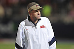 Ole Miss trainer Tim Mullins vs. Alabama at Vaught-Hemingway Stadium in Oxford, Miss. on Saturday, October 14, 2011. Alabama won 52-7.