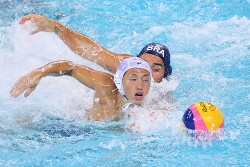 Seiya Adachi (JPN), <br /> AUGUST 8, 2016- Water Polo : <br /> Men's Preliminary Round group A<br /> match between Japan - Brazil <br /> at Maria Lenk Aquatic Centre <br /> during the Rio 2016 Olympic Games in Rio de Janeiro, Brazil. <br /> (Photo by Koji Aoki/AFLO SPORT)