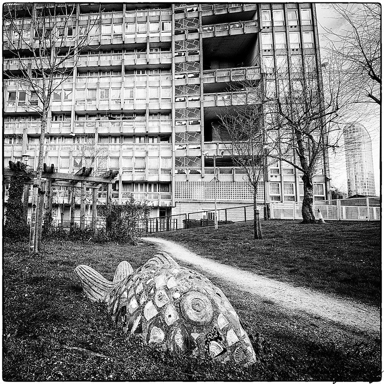 One Of The Garden Sculptures At Robin Hood Gardens