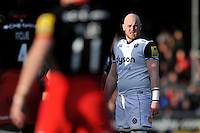 Matt Garvey of Bath Rugby looks on. Aviva Premiership match, between Saracens and Bath Rugby on January 30, 2016 at Allianz Park in London, England. Photo by: Patrick Khachfe / Onside Images