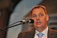 VOETBAL: ABE LENSTRA STADION: HEERENVEEN: 14-01-2014, Nieuwjaarsreceptie, voorzitter Jelko van der Wiel, ©foto Martin de Jong