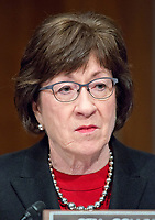 United States Senator Susan Collins (Republican of Maine) during the confirmation hearing for R. Alexander Acosta, Dean of Florida International University College of Law and US President Donald J. Trump's nominee for US Secretary of Labor, on Capitol Hill in Washington, DC on Wednesday, March 22, 2017.<br /> Credit: Ron Sachs / CNP /MediaPunch
