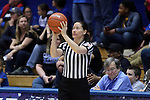 29 January 2017: Referee Maj Forsberg. The Duke University Blue Devils hosted the Old Dominion University Monarchs at Cameron Indoor Stadium in Durham, North Carolina in a 2016-17 Division I Women's Basketball game. Duke won the game 71-43.