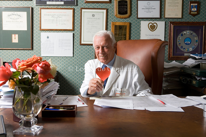 Milan, Italy 2007. Attilio Maseri, Cardiologist and Cardiology Professor at the Univeristà Cattolica in Rome.