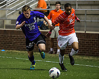 The number 24 ranked Furman Paladins took on the number 20 ranked Clemson Tigers in an inter-conference game at Clemson's Riggs Field.  Furman defeated Clemson 2-1.  Eric Steber (27), Amadou Dia (11)