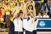11/30/07 Women's volleyball NCAA regional first round match vs. University of Miami (OH) at Crisler Arena.  This was the first time Michigan hosted an NCAA Regional volleyball match.