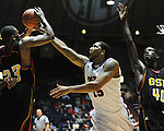 "Ole Miss' Steadman Short (15) vs. Grambling State during the second half at the C.M. ""Tad"" Smith Coliseum in Oxford, Miss. on Monday, November 14, 2011.."
