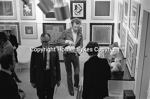 Patrick Proctor. His opening Redfern gallery Cork Street London 1969. Seen here down stairs his work on ground floor.<br /> <br /> If you recognize any of these people would you email me please. Thanks.