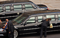 CIA Chauffeur - 2011<br /> <br /> London, 24/05/2011. The US President Barack Obama and his wife Michelle Obama arrived at Westminster Abbey during their first state visit to the United Kingdom.