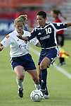 18 June 2004: Sissi (10) and Brooke O'Hanley (8). The Atlanta Beat tied the New York Power 2-2 at the National Sports Center in Blaine, MN in Womens United Soccer Association soccer game featuring guest players from other teams.