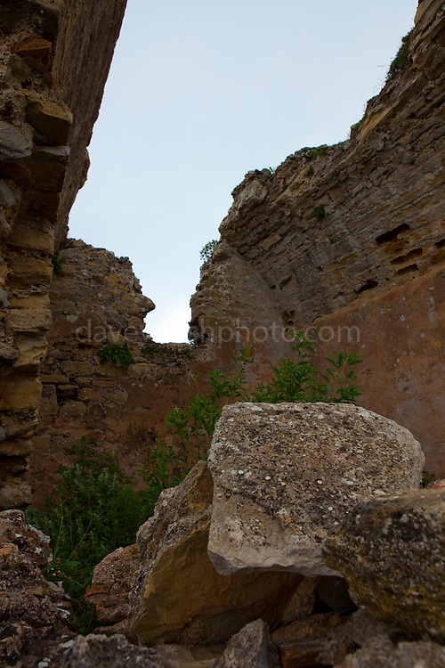 "Ruined church in the ancient Hellenic city of Polyrinia, Crete. The place name means ""many sheep"" and it was the most fortified city in ancient Crete."