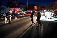 A police checkpoint on the road between Pattani and Yala in Southern Thailand. It is a dangerous place to be at dusk, as this is when most of the bombings, shootings and outbreaks of violence in the area occur. There is on average one serious incident a month along this stretch of road. The insurgency in Southern Thailand began as a conflict between the Malay muslim population and central government, but now the boundaries have become blurred and various guerilla groups have become involved. No-one seems certain as to who is fighting who. As of March 2008, the insurgency had claimed as many as 3,000 lives.