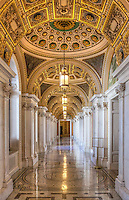 Library of Congress Washington DC Architecture<br /> Main Reading Room Ceiling