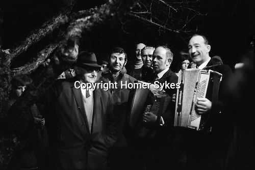 Wassailing the Apple Tree. Carhampton Somerset. England . 1972<br />